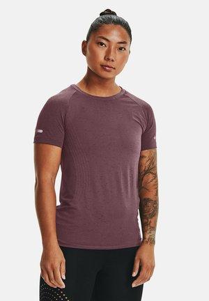 UA SEAMLESS  - Print T-shirt - mauve