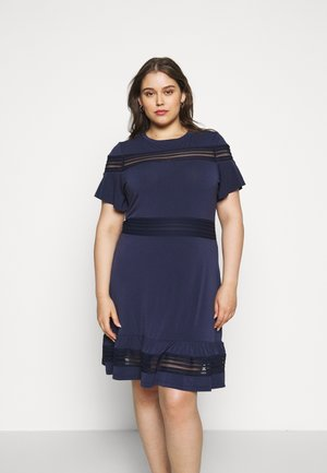 MIX DRESS - Day dress - true navy
