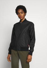 Hunter ORIGINAL - WOMENS ORIGINAL LIGHTWEIGHT JACKET - Faux leather jacket - black - 0