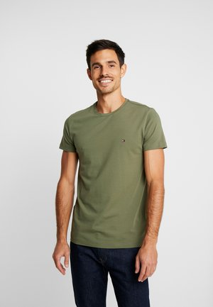 STRETCH SLIM FIT TEE - T-shirt basique - green