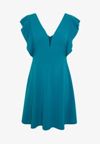 WAL G. - RUFFLE SLEEVE MINI DRESS - Cocktail dress / Party dress - teal - 4