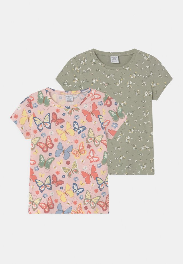 MINI 2 PACK - T-shirt con stampa - dusty green