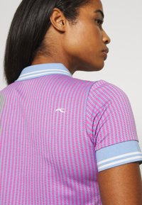 Kjus - WOMEN ELLA STRUCTURE - Polo shirt - pink divine/vista blue - 5