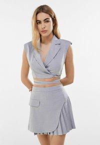 Bershka - A-line skirt - grey - 0
