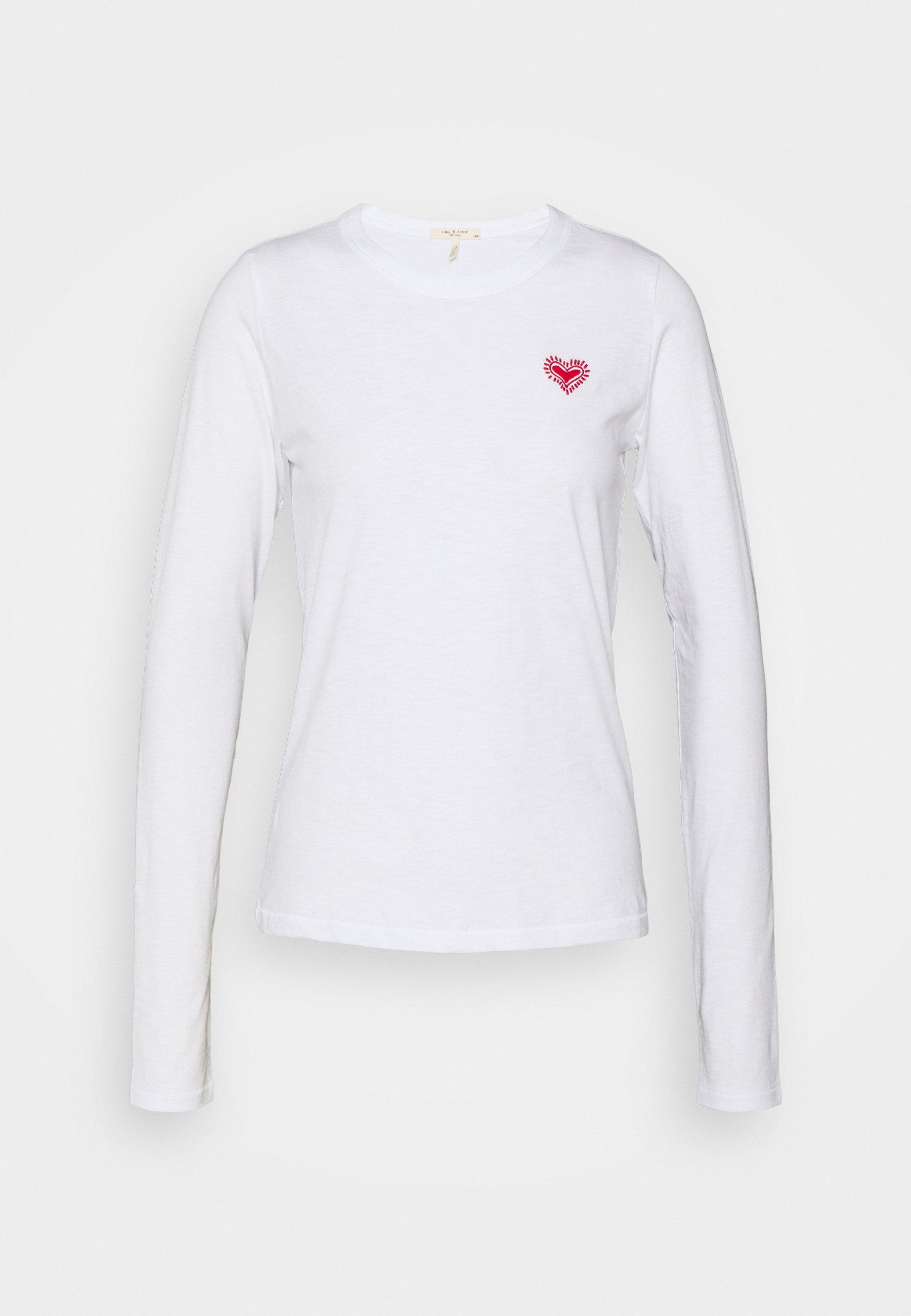 Women EMBROIDERED HEART LONGSLEEVE - Long sleeved top