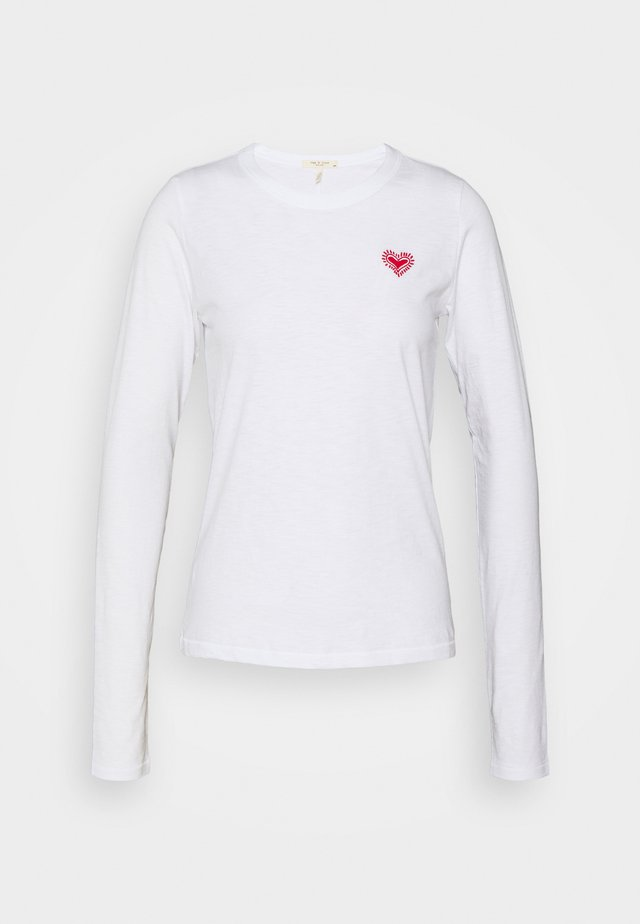 EMBROIDERED HEART LONGSLEEVE - Topper langermet - white