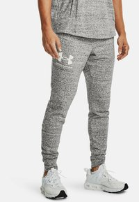 Under Armour - RIVAL TERRY  - Tracksuit bottoms - onyx white - 0