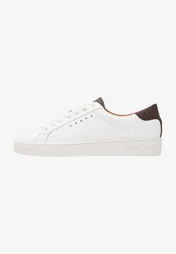 IRVING LACE UP - Tenisky - optic white/brown