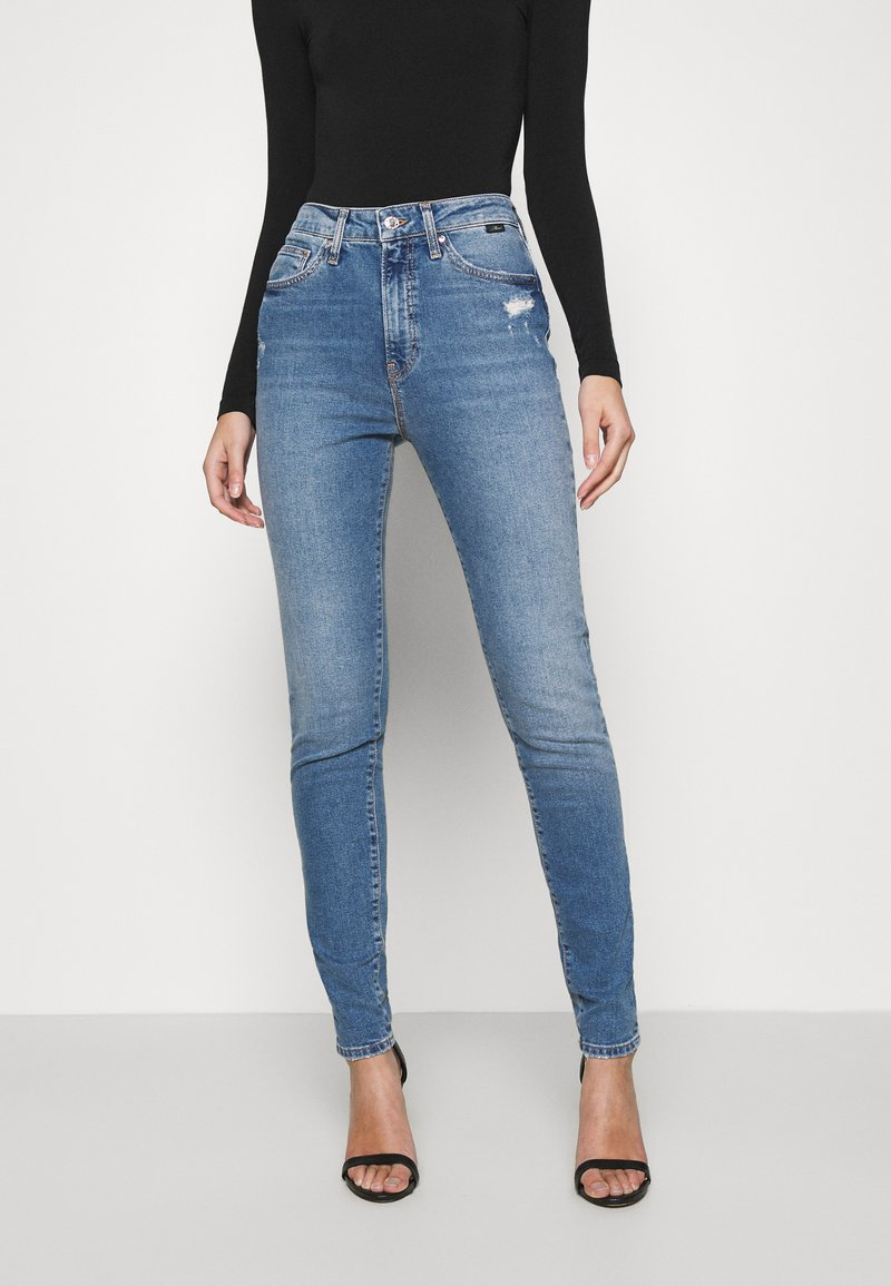 Mavi - SCARLETT - Jeans Skinny Fit - mid brushed all blue