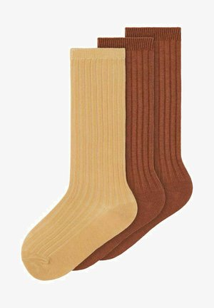 PACK OF 3 - Sokken - tobacco brown