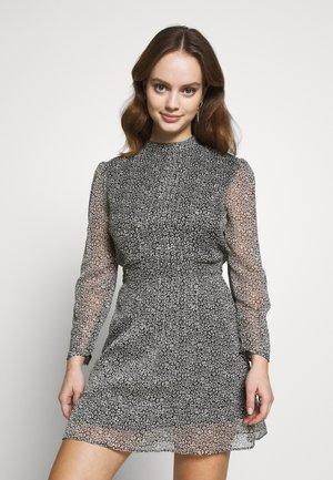 SHEER PINTUCK MINI - Day dress - black