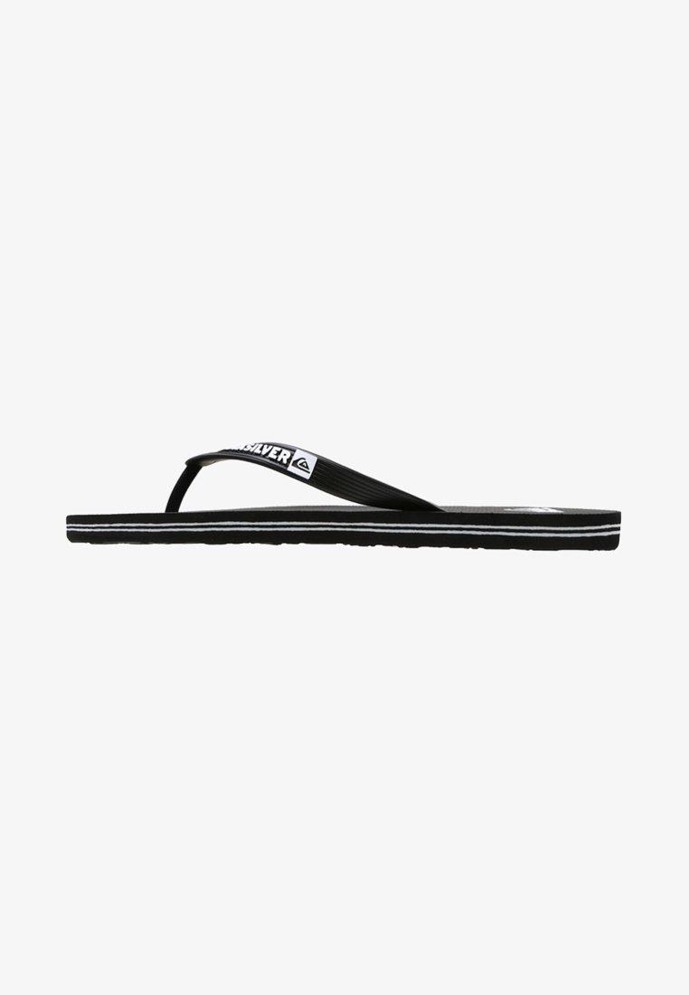 Quiksilver - MOLOKAI - Pool shoes - black/white