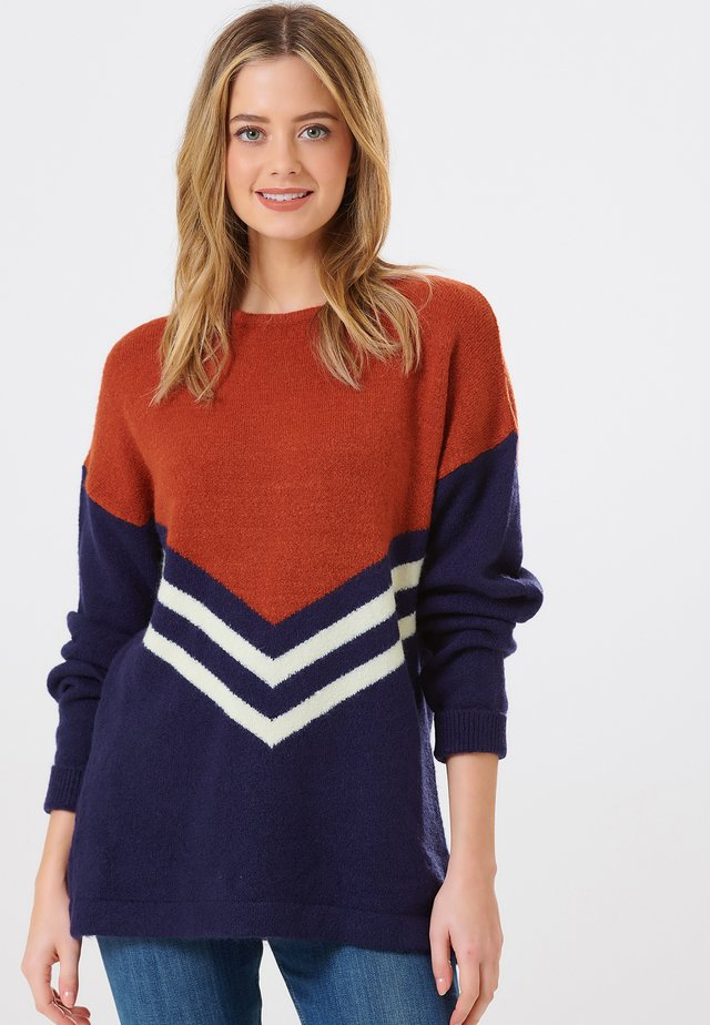 LIVVY CHEVRON  - Jumper - navy