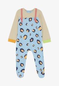 Lucy & Sam - RIBBON ROMPER LEOPARD PRINT BABY - Jumpsuit - light blue/off white - 2