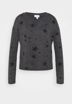 SNIT CREW NECK - Pyjama top - charcoal