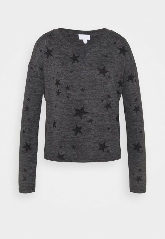 SNIT CREW NECK - Koszulka do spania - charcoal