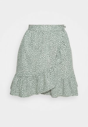 VMDICTHE SHORT WRAP SKIRT - Omslagsskjørt - laurel wreath/snow white