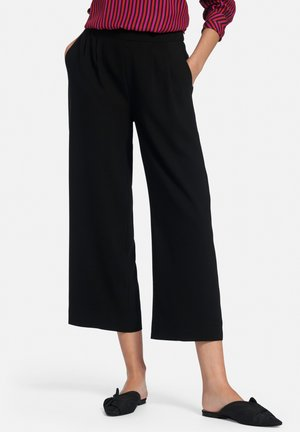 SCHLUPF-CULOTTE - Trousers - schwarz