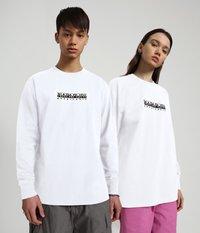 Napapijri - S-BOX LS - Long sleeved top - bright white - 2