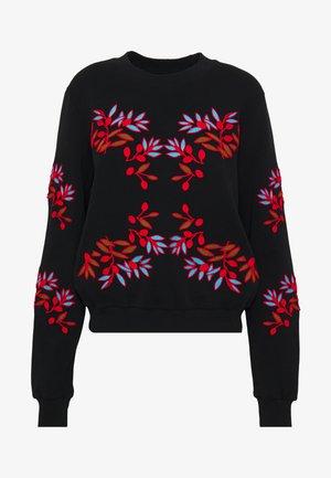 FLOWER ROUNDNECK - Sweatshirt - black