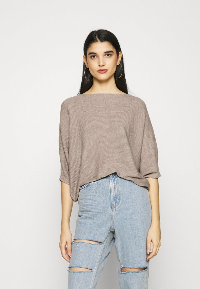 BEHAVE  - Sweter - simply taupe melange