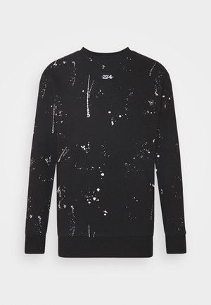 PAINT SPLAT CREW - Sweatshirt - black