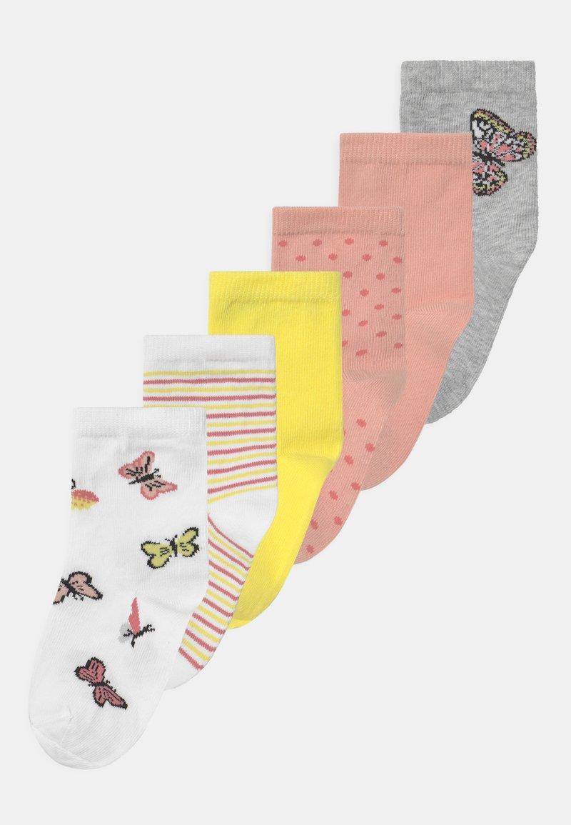 Name it - NKFBETRIA 6 PACK - Socks - silver/pink