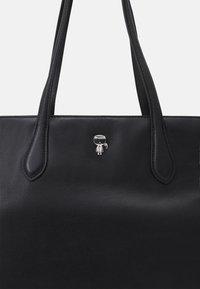 KARL LAGERFELD - IKONIK 3D PIN TOTE - Handbag - black - 5