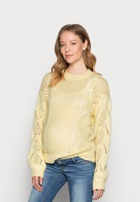 Pieces Maternity - PCMPENELOPE - Jumper - almond oil - 0
