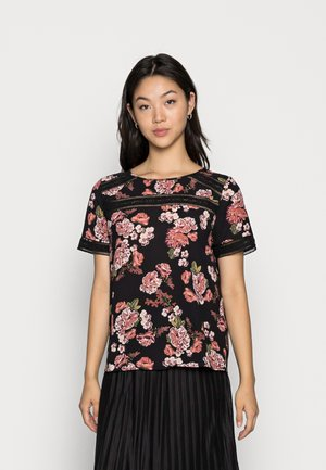 VISURASHA LACE  - T-shirt med print - black delicate femme