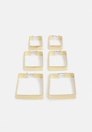 PCKAYDEE HOOP EARRINGS 3 PACK - Náušnice - gold-coloured