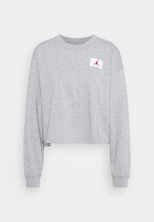 ESSENTIAL BOXY TEE - T-shirt à manches longues - dark grey heather