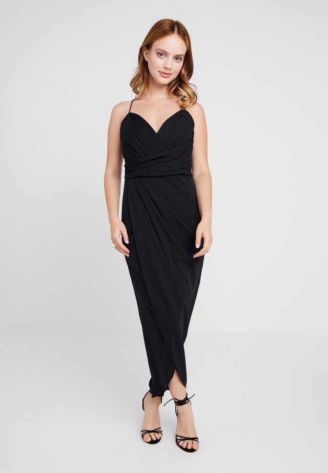 CHARLOTTE DRAPE DRESS - Cocktailkjole - black