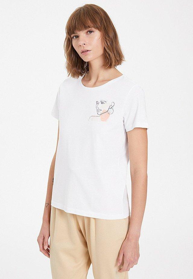 WATERCOLOUR - Print T-shirt - white