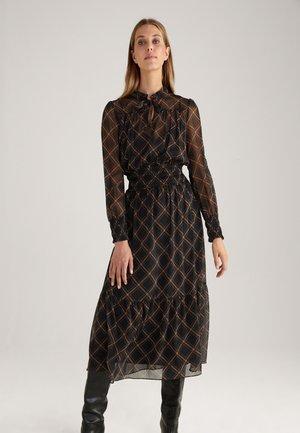 DANTE - Day dress - schwarz/braun/camel kariert