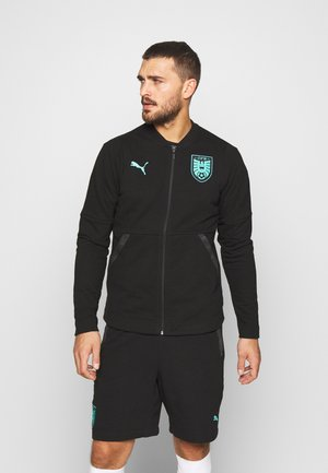 ÖSTERREICH ÖFB CASUALS JACKET - Training jacket - puma black/blue turquoise