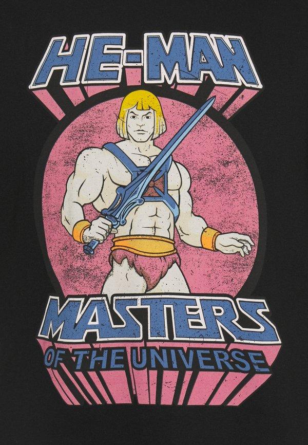 Nominal MAN TEE - T-shirt z nadrukiem - black/czarny Odzież Męska ZCYG
