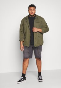Only & Sons - ONSPLY RAW HEM - Denim shorts - grey denim - 1