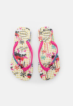 DISNEY COOL - T-bar sandals - white/pink flux