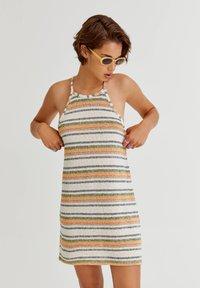 PULL&BEAR - Jumper dress - mottled beige - 0