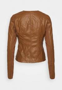 Vero Moda Tall - VMRIAFAVO SHORT COATED JACKET - Faux leather jacket - cognac - 6