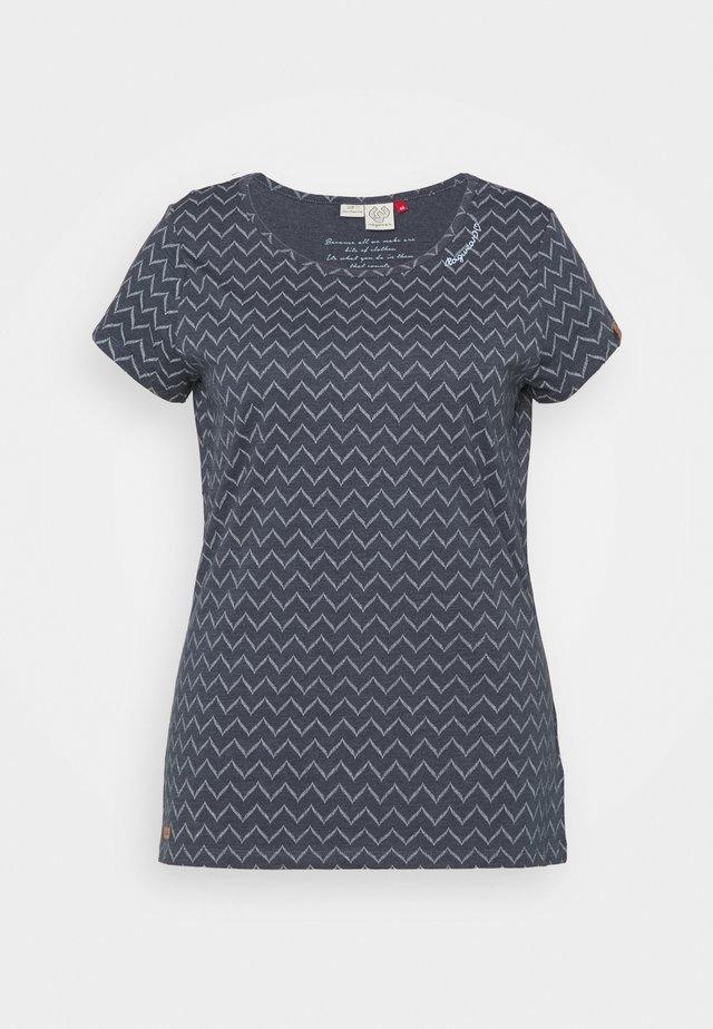 ZIG ZAG - Print T-shirt - denim blue