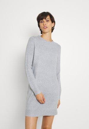 VMDOFFY O-NECK DRESS - Jumper dress - light grey melange