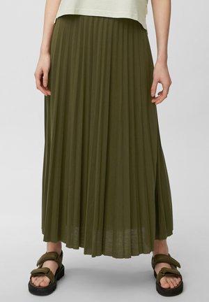 Pleated skirt - native olive