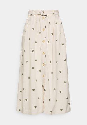OBJBRIELLE LONG SKIRT - Maxi skirt - sandshell