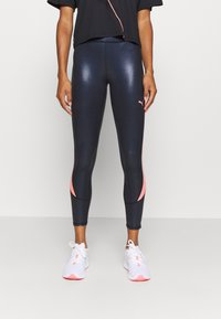 Puma - TRAIN PEARL HIGH WAIST - Legginsy - black/peach - 0