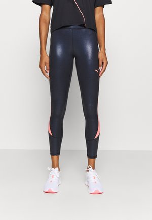 TRAIN PEARL PRINT HIGH WAIST - Leggings - black/peach