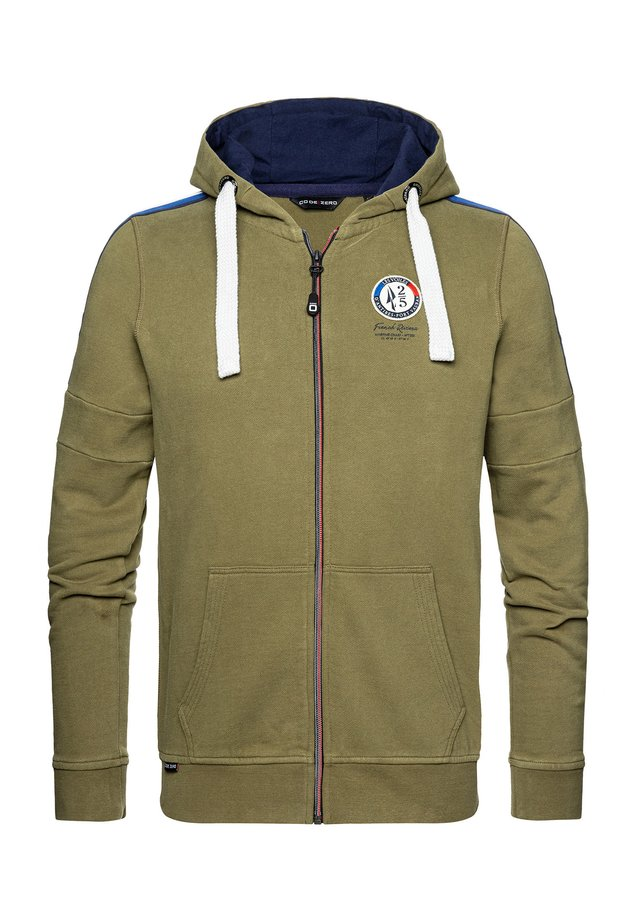 KAPUZENSWEATJACKE ANTIBES LIMITED ZIP SWEATER - Zip-up hoodie - burned olive