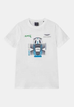AMR CAR TEE - T-shirt print - white
