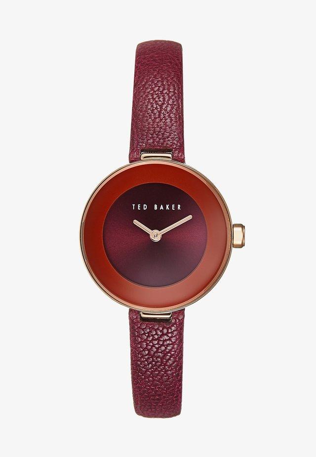 LENARA - Watch - bordeaux